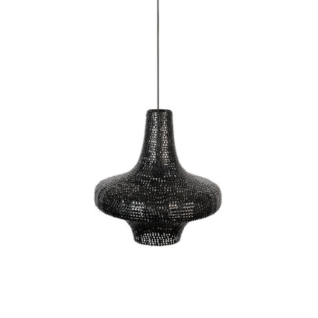 Dutchbone Hanging lamp Trooper black iron L Ø45x180cm