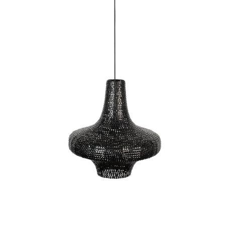 Dutchbone Hanglamp Trooper zwart ijzer L Ø45x180cm