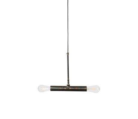 Dutchbone Doppio Hängelampe aus schwarzem Metall 30,5x4,5x142,5 cm