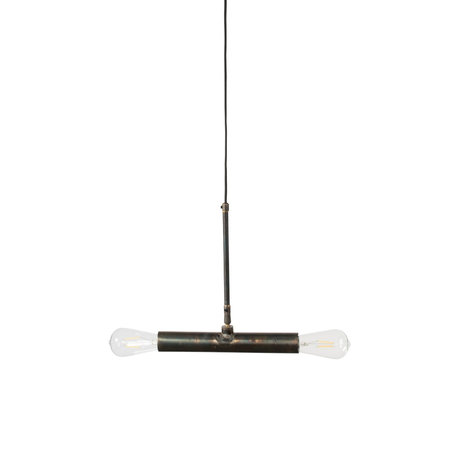 Dutchbone Doppio hanging lamp black metal 30.5x4.5x142.5 cm