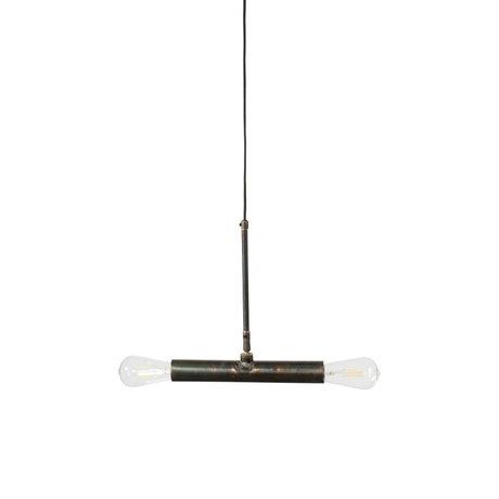 Dutchbone Hanglamp Doppio zwart metaal 30,5x4,5x142,5cm