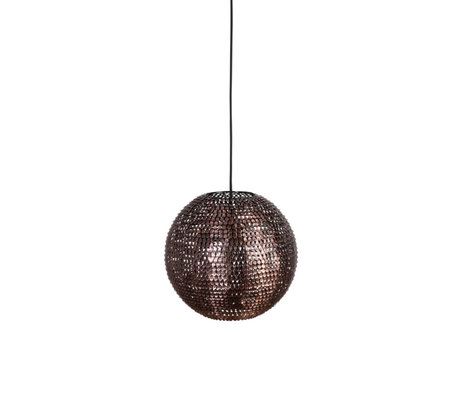 Dutchbone Hanglamp Cooper round koper M Ø30x160cm