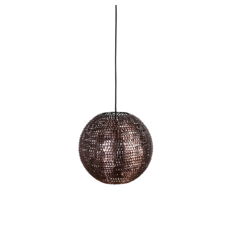 Dutchbone Hanging lamp Cooper round copper M Ø30x160cm