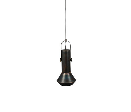 Dutchbone Hanging lamp Vox black metal Ø20x126cm