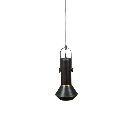 Dutchbone Hanglamp Vox zwart metaal Ø20x126cm