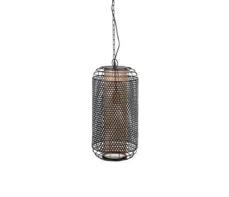 Dutchbone Hanglamp Archer zwart messing metaal L Ø26,5x209,5cm