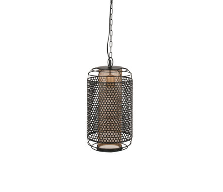 Dutchbone Archer pendant light black brass metal M Ø25.5x200cm