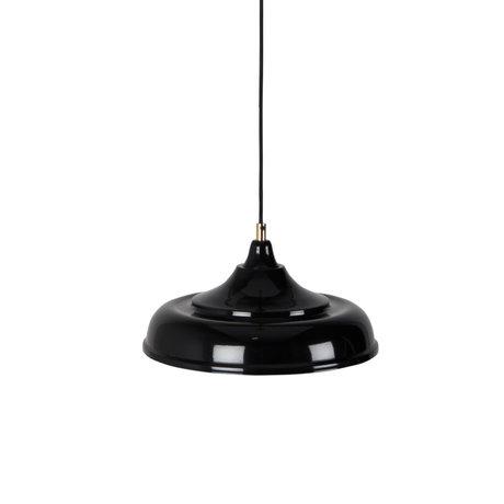 Dutchbone Hanglamp Sally zwart geel metaal Ø34,5x165cm