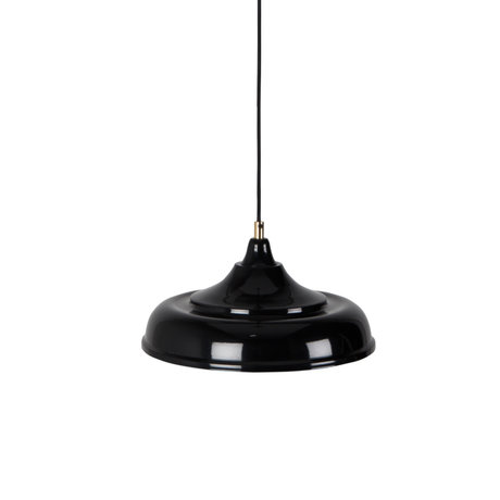 Dutchbone Sally hanging lamp black yellow metal Ø34,5x165cm