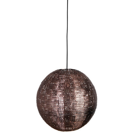 Dutchbone Hanglamp Cooper round koper L Ø40x160cm