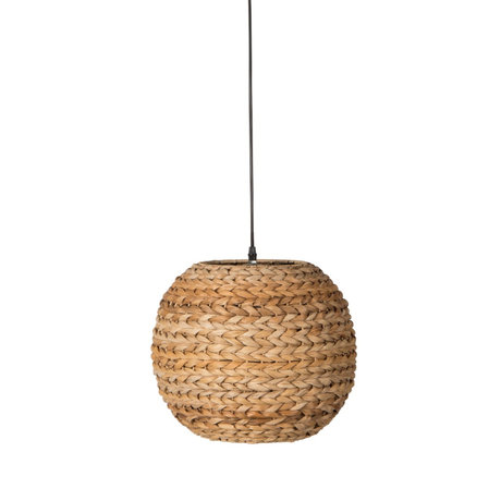 Dutchbone Hanging lamp Nana brown braided banana leaves Ø34,5x140cm