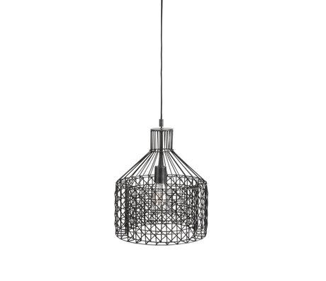 Dutchbone Hanglamp Jim Wide grijs zilver metaal Ø30x170cm