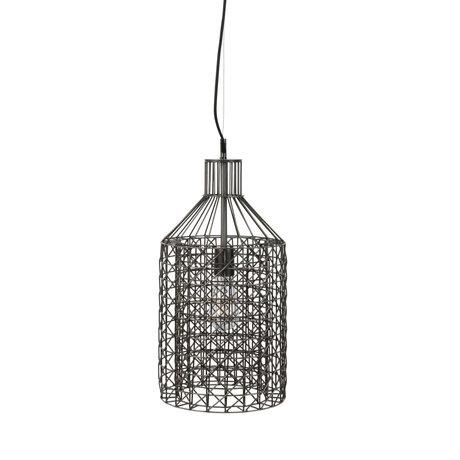 Dutchbone Hanglamp Jim Tall grijs zilver metaal Ø25x170cm