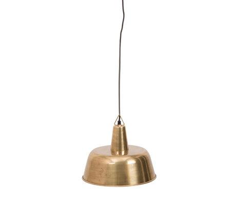 Dutchbone Hanglamp Freak brass goud metaal Ø31x175cm