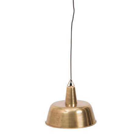 Dutchbone Hanging lamp Freak brass gold metal Ø31x175cm