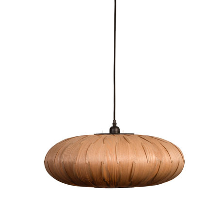 Dutchbone Bond Oval hanging lamp brown wood Ø50x156.5cm