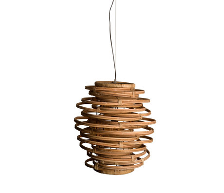 Dutchbone Kubu brown rattan hanging lamp Ø46x156cm