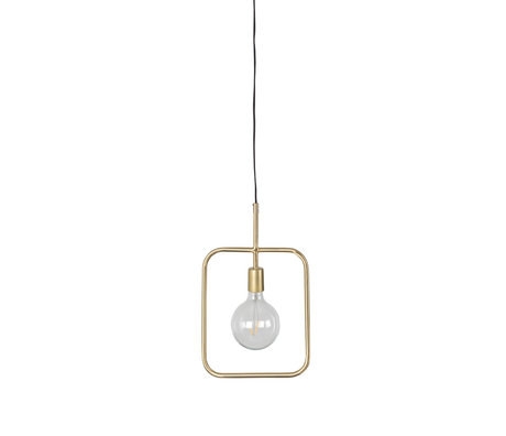 Dutchbone Cubo brass gold metal hanging lamp 27x1.5x178.5 cm
