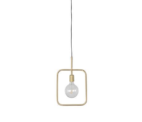 Dutchbone Hanglamp Cubo brass goud metaal 27x1,5x178,5cm