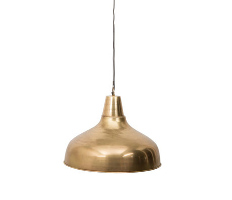 Dutchbone Mania brass gold metal hanging lamp Ø51x185cm