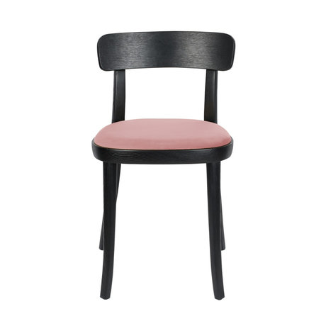 Dutchbone Chair Brandon black pink polysester ash wood 46x45x75cm