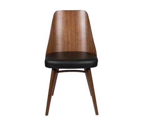 Dutchbone Chair Chaya brown black textile rubber wood 47.5x61x87cm
