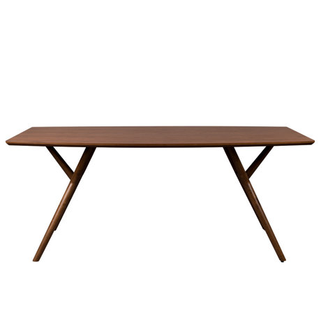 Dutchbone Dining table Malaya dark brown walnut wood 180x90x74cm