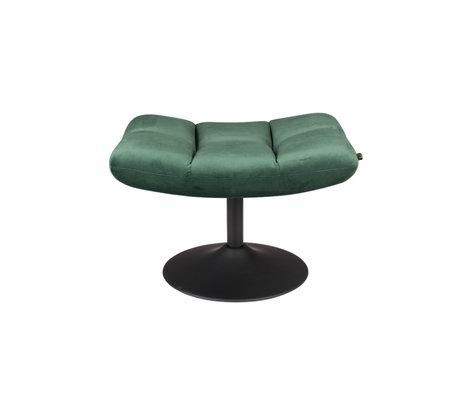 Dutchbone Hocker Bar velvet groen polyester metaal 67x51,5x46cm