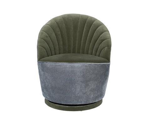Dutchbone Fauteuil Madison olijfgroen textiel metaal 67x76x78cm