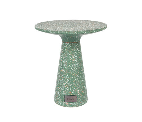 Zuiver Table d'appoint Victoria vert béton Ø41x47cm