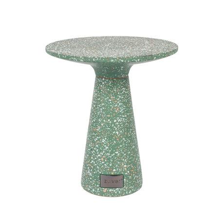 Zuiver Bijzettafel Victoria groen beton Ø41x47cm