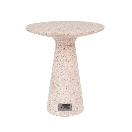 Zuiver Bijzettafel Victoria roze beton Ø41x47cm