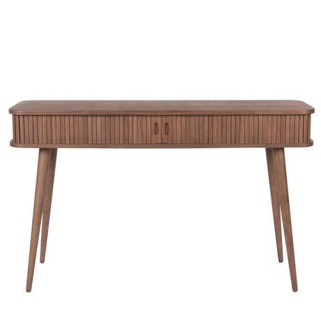 Zuiver Table d'appoint Barbier en bois brun foncé 120x35x74cm