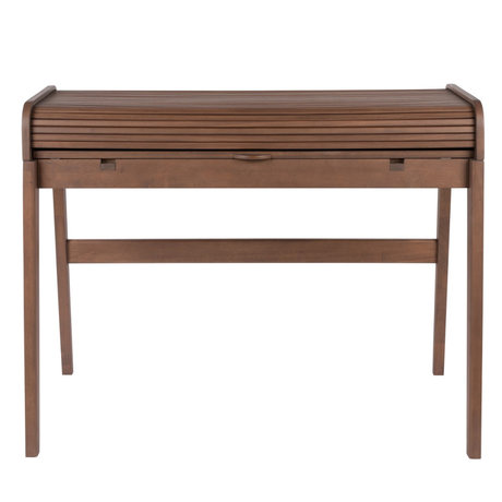 Zuiver Desk Barbier dark brown wood 110x61-77x85cm