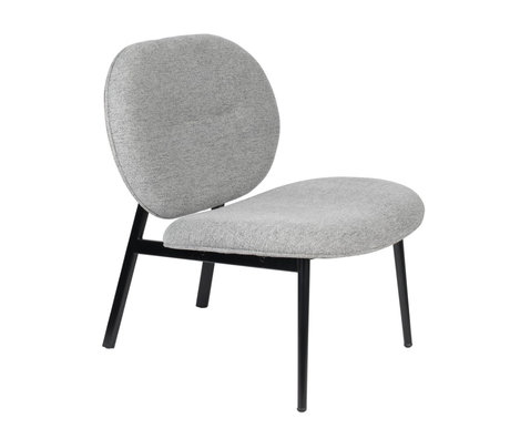 Zuiver Armchair Spike gray steel textile 78,6x70x84,1cm