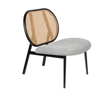 Zuiver Armchair Spike gray rattan steel textile 78,6x70x84,1cm