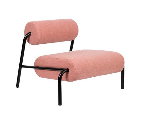 Zuiver Sessel Lekima rosa Stahl Textil 87x93x70cm
