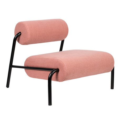 Zuiver Armchair Lekima pink steel textile 87x93x70cm