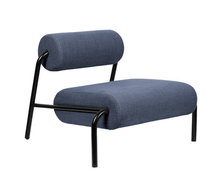 Zuiver Armchair Lekima dark blue steel textile 87x93x70cm