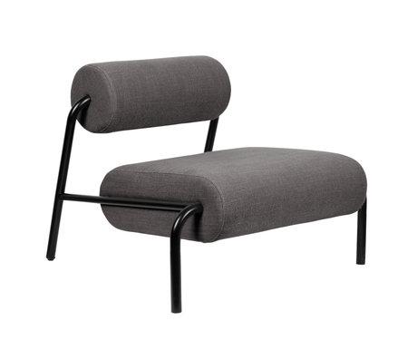 Zuiver Fauteuil Lekima gris foncé acier textile 87x93x70cm