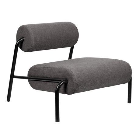 Zuiver Armchair Lekima dark gray steel textile 87x93x70cm