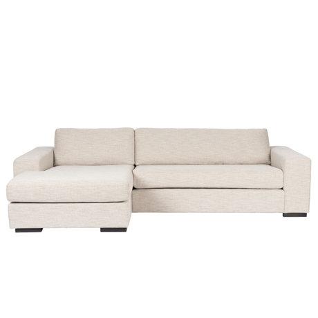 Zuiver Sofa Fiep left beige textile 275x97 / 151x80cm