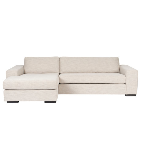 Zuiver Sofa Fiep links beige Textil 275x97 / 151x80cm