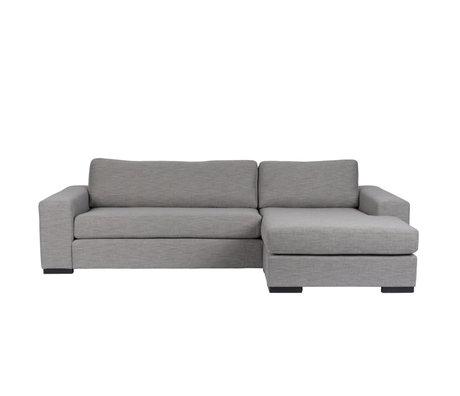 Zuiver Banc Fiep droit gris textile 275x97 / 151x80cm