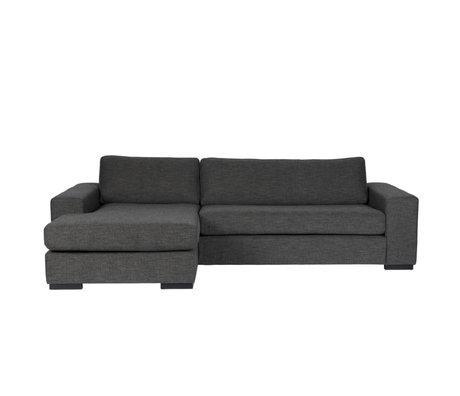 Zuiver Bank Fiep gauche textile gris foncé 275x97 / 151x80cm