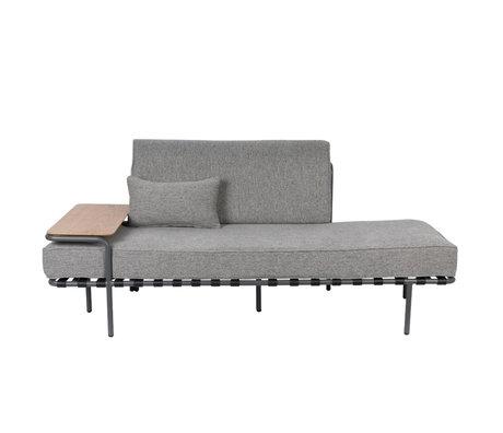 Zuiver Bank Star gris textile bois acier 187x90x70cm