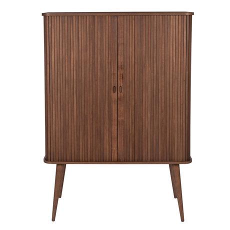 Zuiver Kast Barbier donkerbruin hout 100x45x140cm