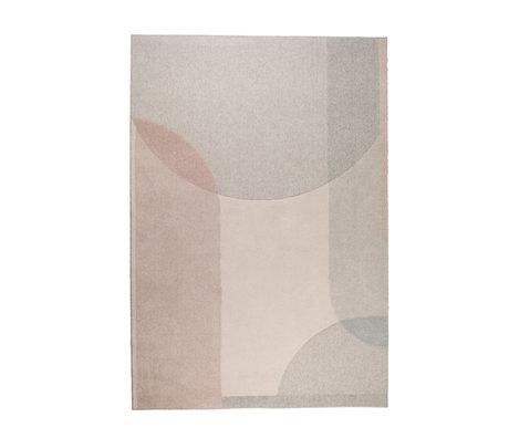 Zuiver Teppich Traum beige rosa Textil 160x230cm