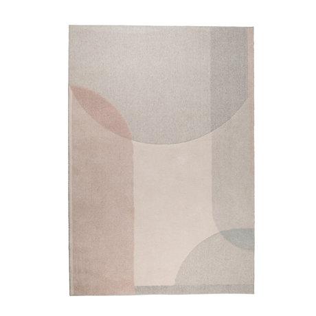 Zuiver Carpet Dream beige pink textile 160x230cm