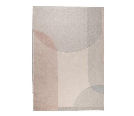 Zuiver Carpet Dream beige pink textile 200x300cm
